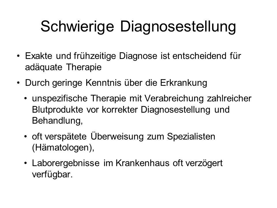 Schwierige Diagnosestellung