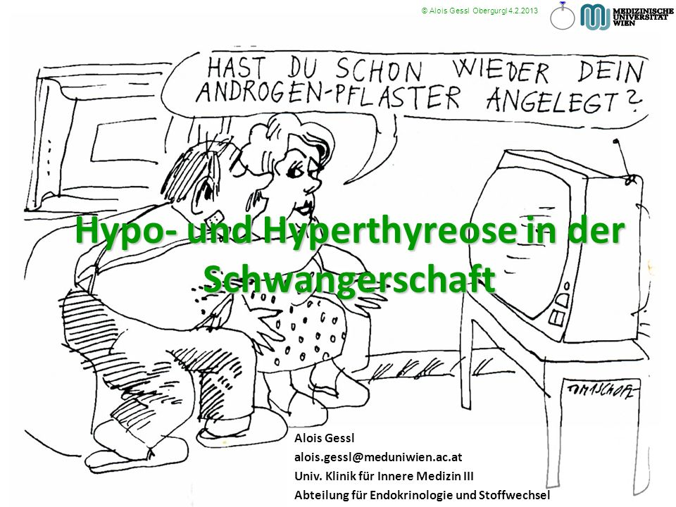 Hypo- und Hyperthyreose in der Schwangerschaft