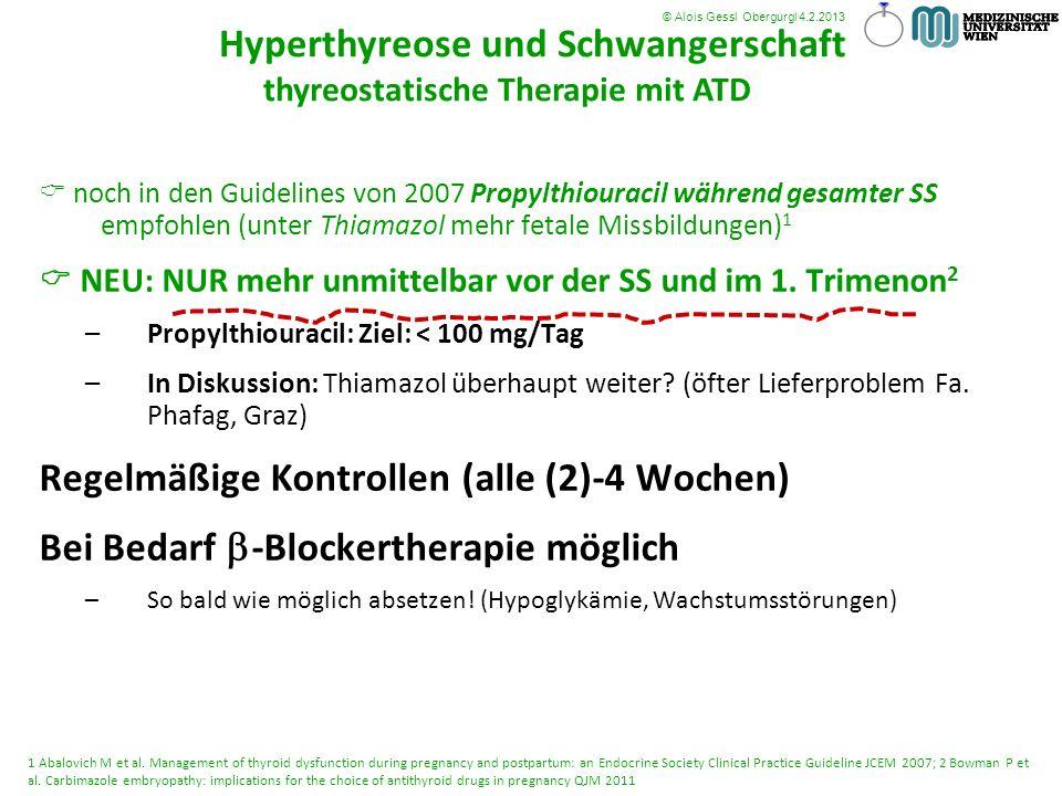 Hyperthyreose und Schwangerschaft thyreostatische Therapie mit ATDtun