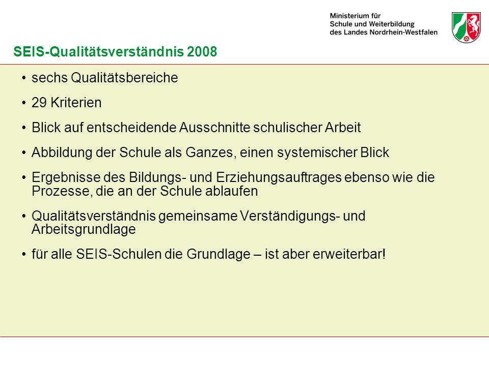 SEIS-Qualitätsverständnis 2008