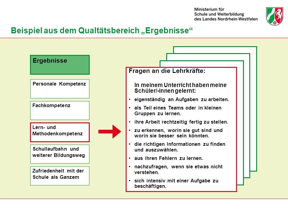 """Beispiel aus dem Qualtätsbereich """"Ergebnisse"""