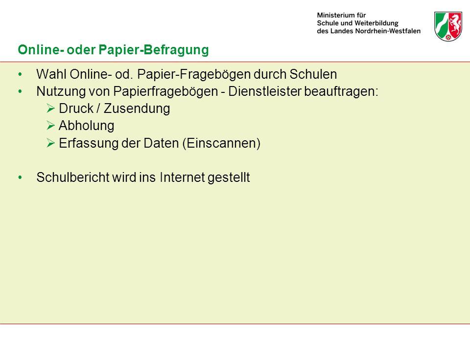 Online- oder Papier-Befragung