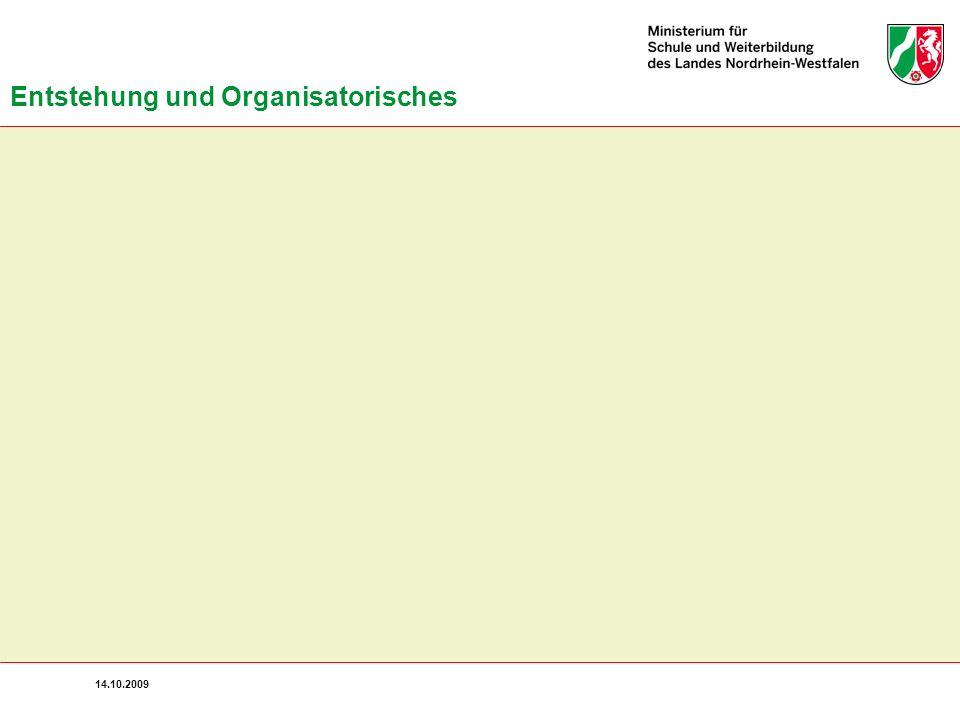 Entstehung und Organisatorisches