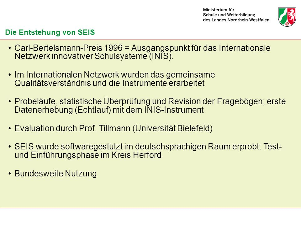 Evaluation durch Prof. Tillmann (Universität Bielefeld)