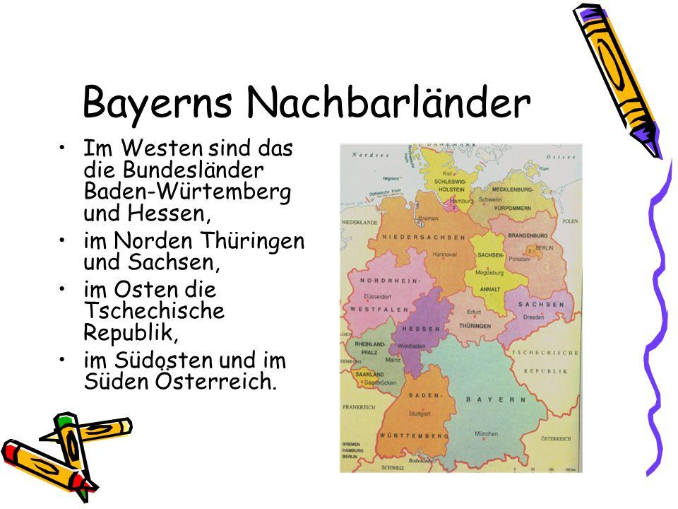 Bayerns Nachbarländer