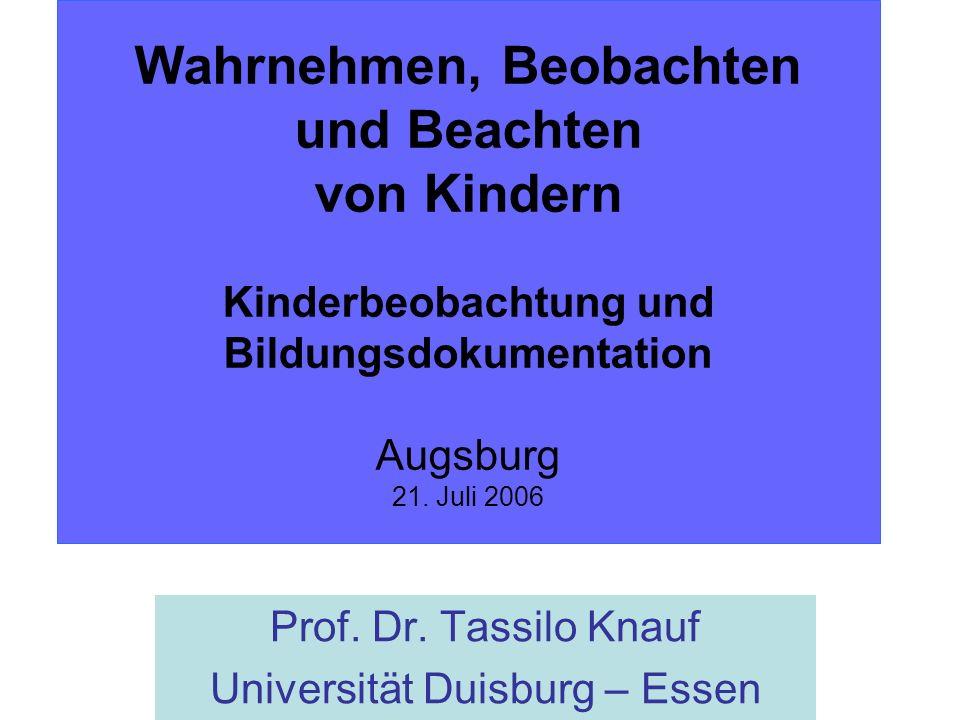 Prof. Dr. Tassilo Knauf Universität Duisburg – Essen