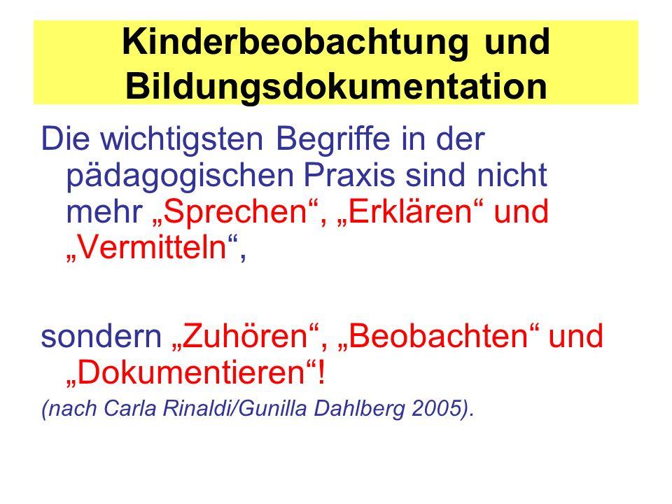Kinderbeobachtung und Bildungsdokumentation