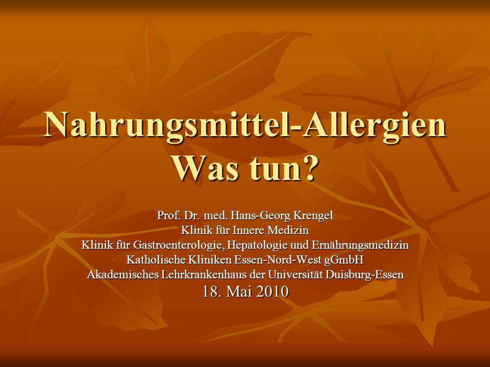Nahrungsmittel-Allergien Was tun