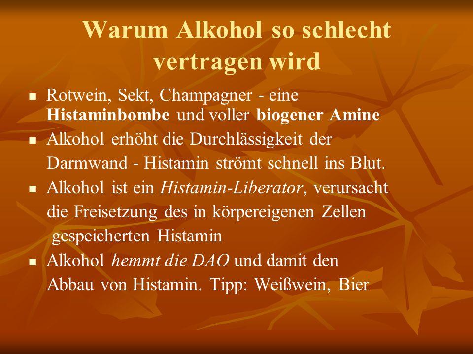 Warum Alkohol so schlecht vertragen wird