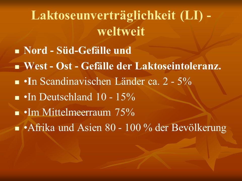 Laktoseunverträglichkeit (LI) - weltweit