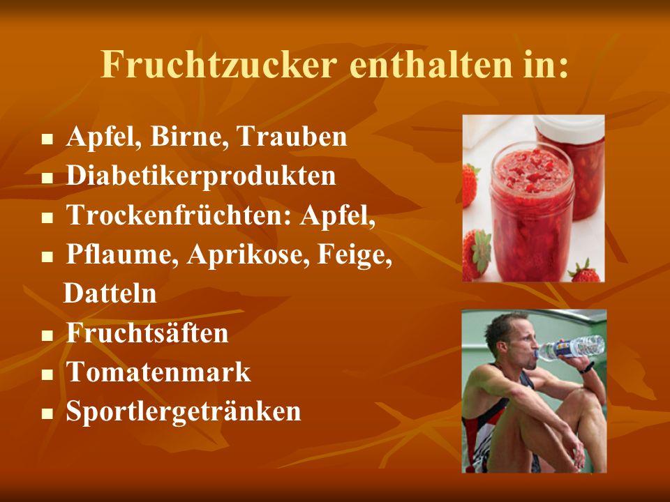 Fruchtzucker enthalten in: