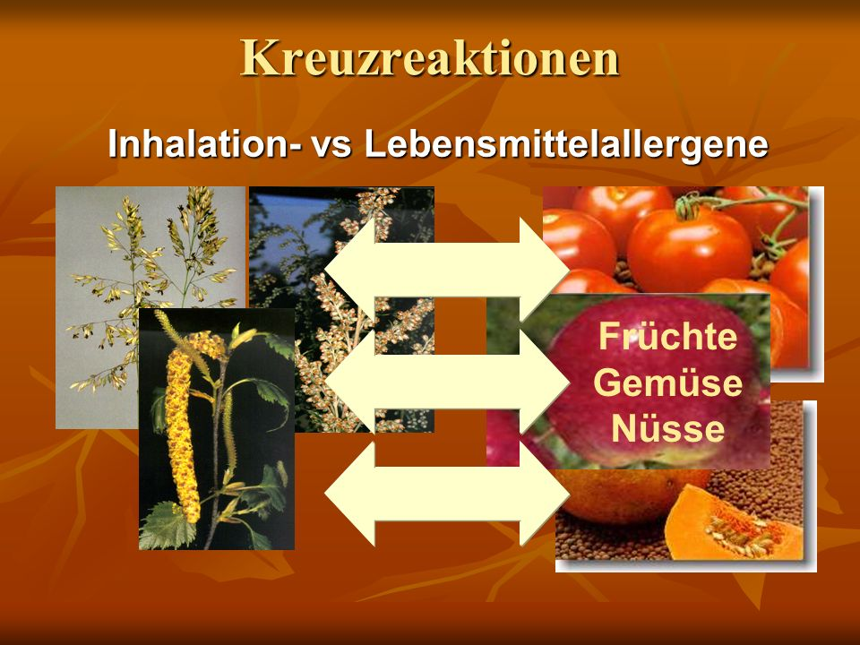 Inhalation- vs Lebensmittelallergene