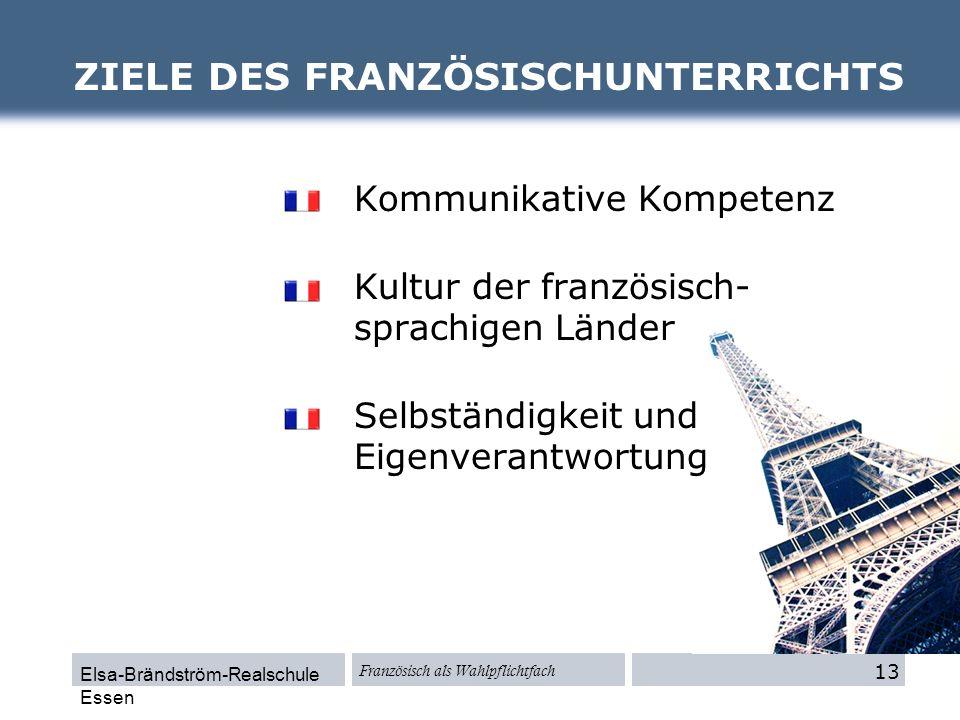 ZIELE DES FRANZÖSISCHUNTERRICHTS