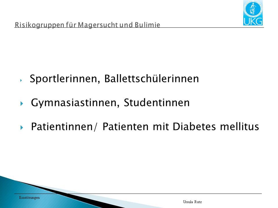 Risikogruppen für Magersucht und Bulimie