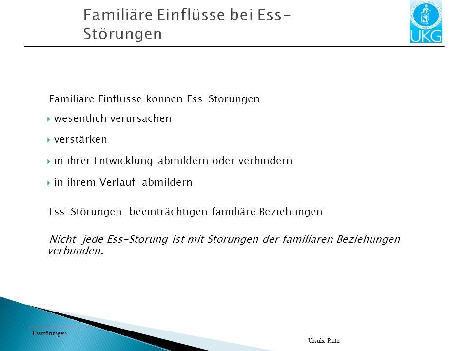 Familiäre Einflüsse bei Ess-Störungen