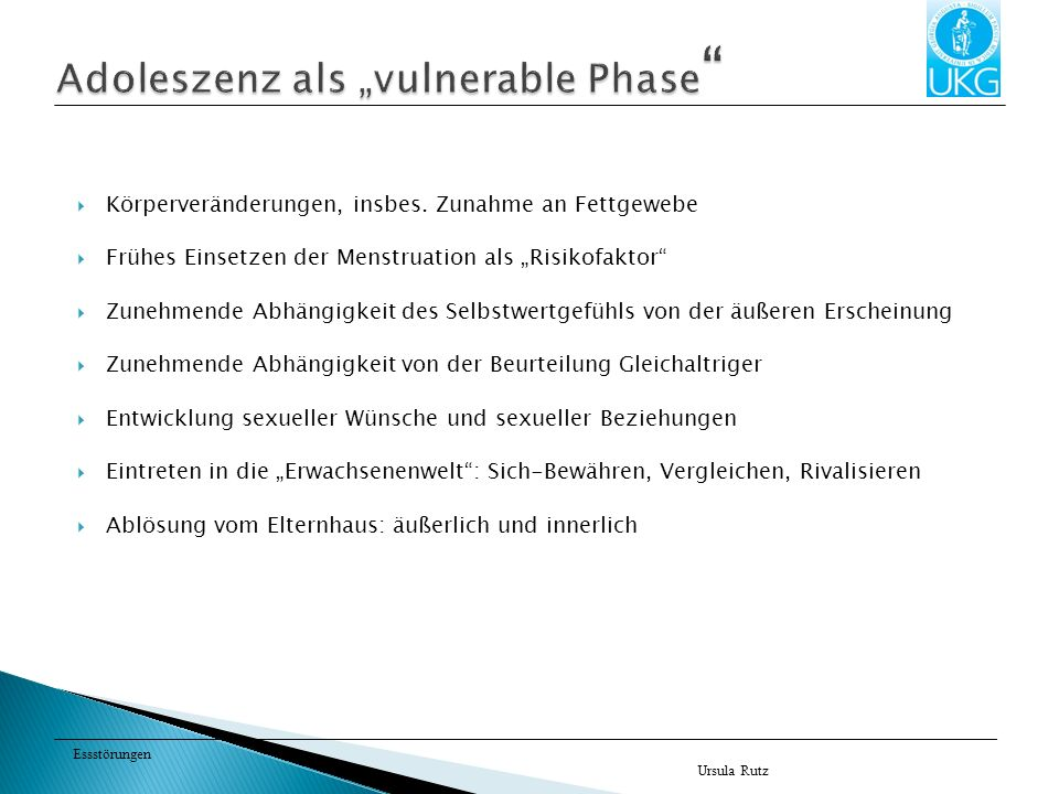 "Adoleszenz als ""vulnerable Phase"