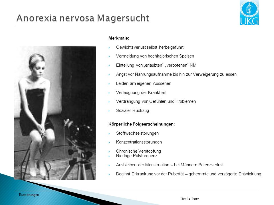 Anorexia nervosa Magersucht