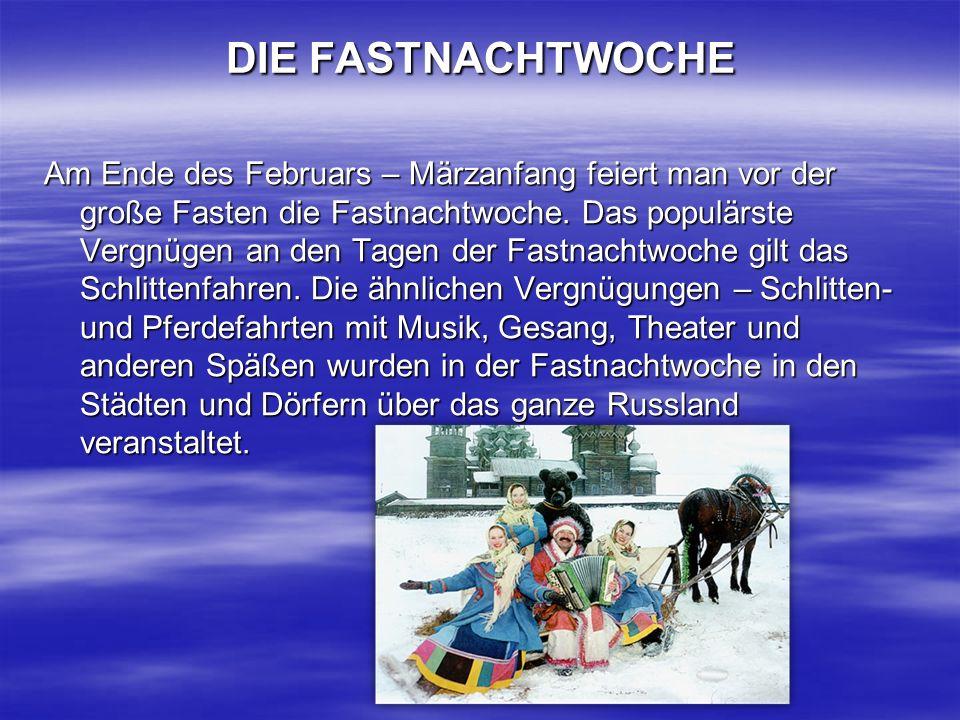 DIE FASTNACHTWOCHE