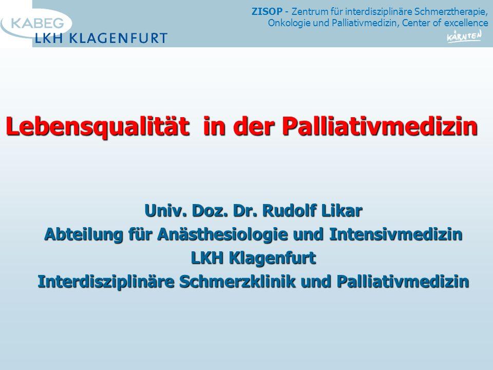 Lebensqualität in der Palliativmedizin