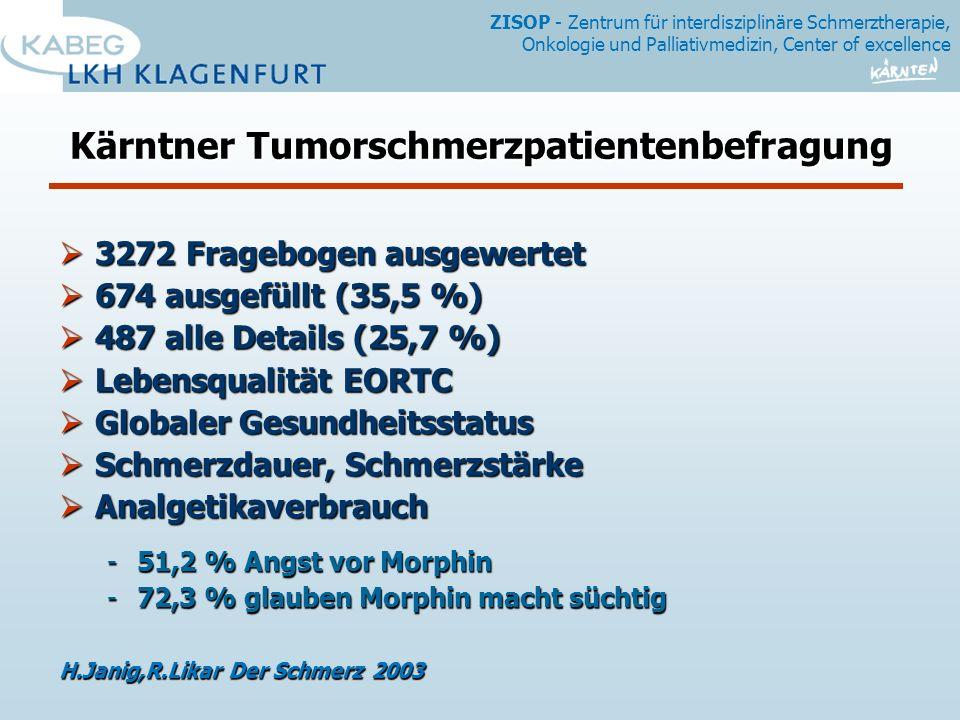 Kärntner Tumorschmerzpatientenbefragung