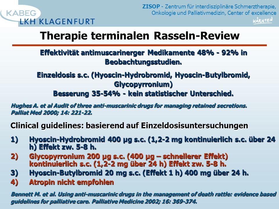 Therapie terminalen Rasseln-Review