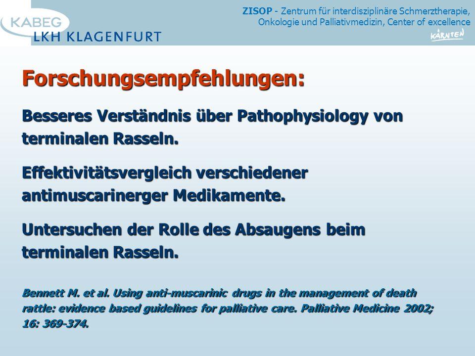 Forschungsempfehlungen: