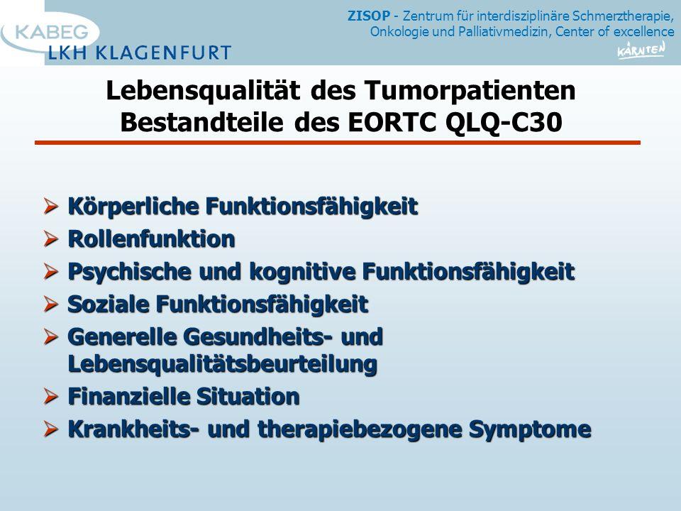 Lebensqualität des Tumorpatienten Bestandteile des EORTC QLQ-C30
