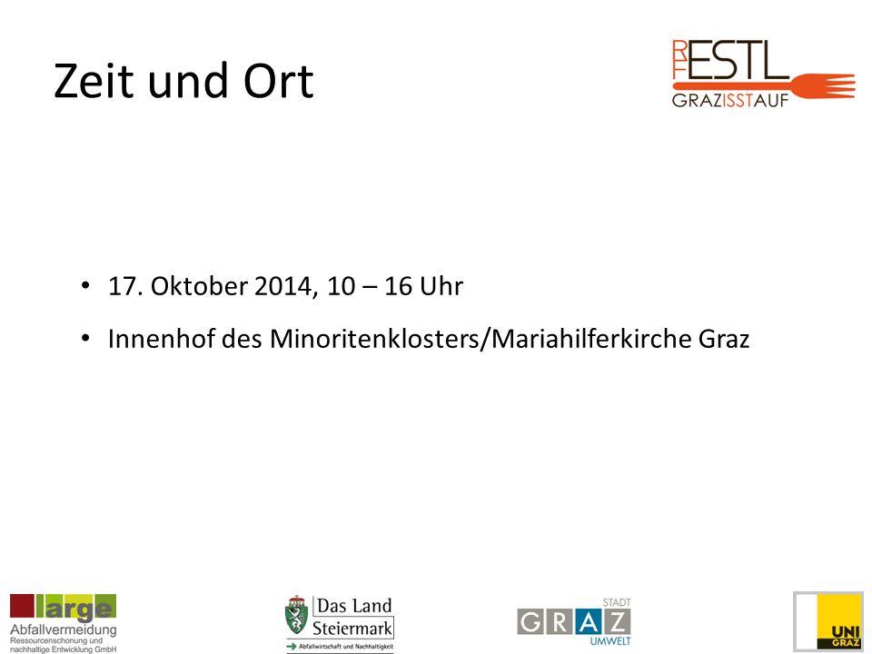 Zeit und Ort 17. Oktober 2014, 10 – 16 Uhr