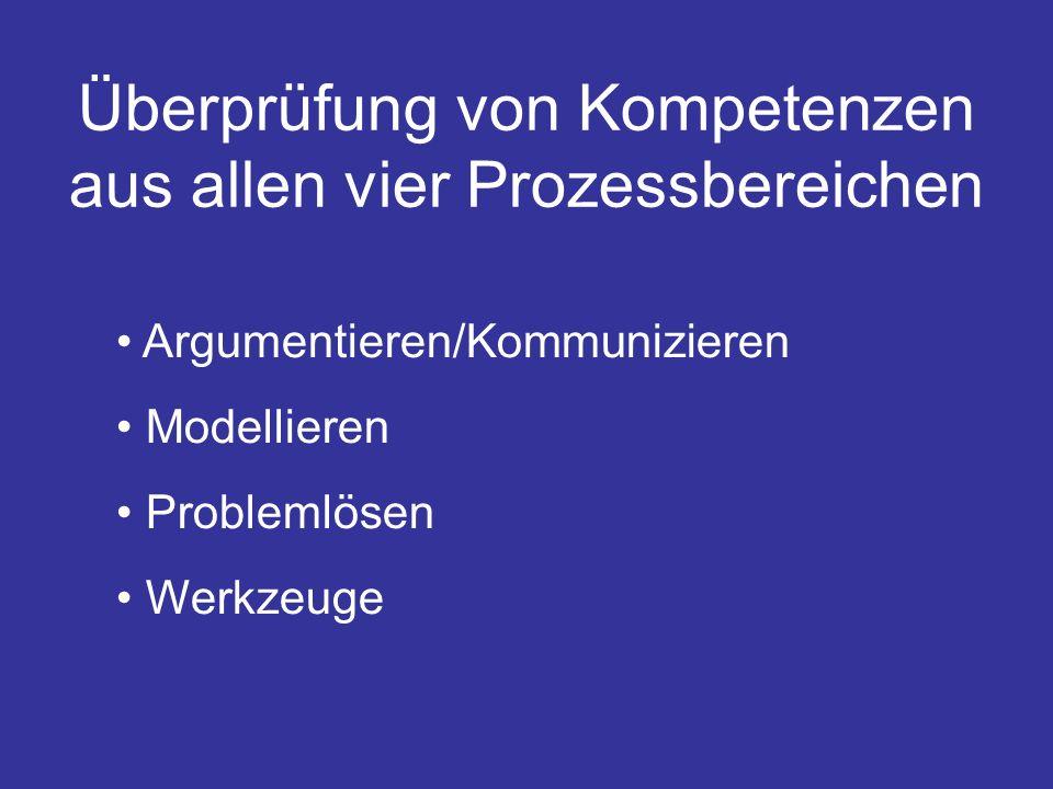 Überprüfung von Kompetenzen aus allen vier Prozessbereichen