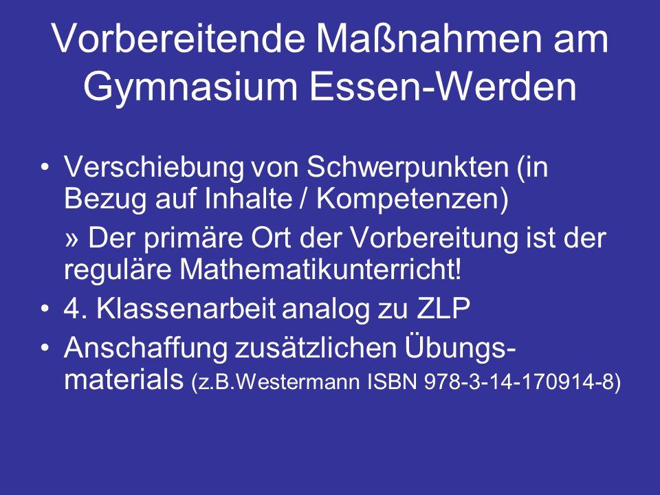 Vorbereitende Maßnahmen am Gymnasium Essen-Werden