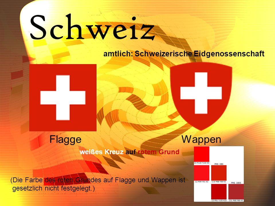 Schweiz Flagge Wappen amtlich: Schweizerische Eidgenossenschaft
