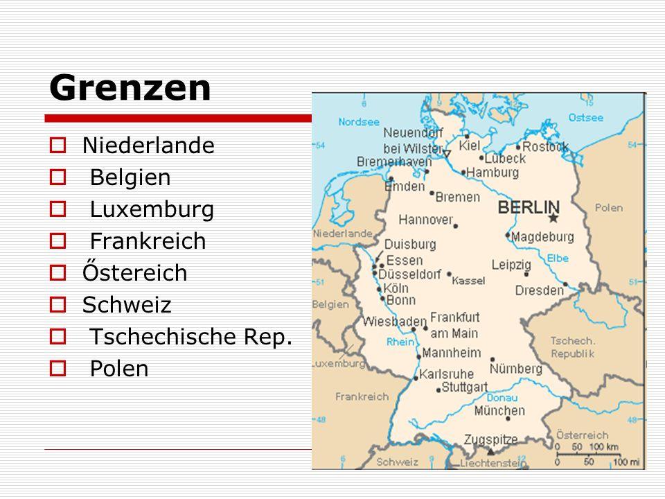 Grenzen Niederlande Belgien Luxemburg Frankreich Őstereich Schweiz