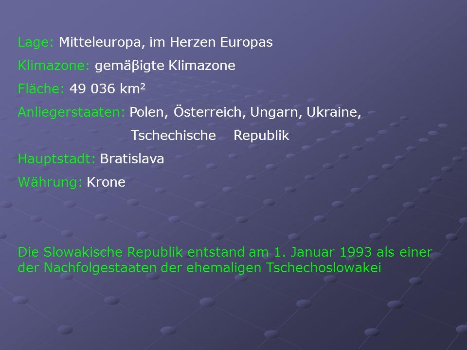 Lage: Mitteleuropa, im Herzen Europas