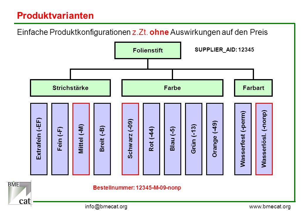 Produktvarianten Einfache Produktkonfigurationen z.Zt. ohne Auswirkungen auf den Preis. Folienstift.