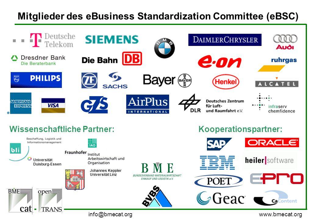 Mitglieder des eBusiness Standardization Committee (eBSC)