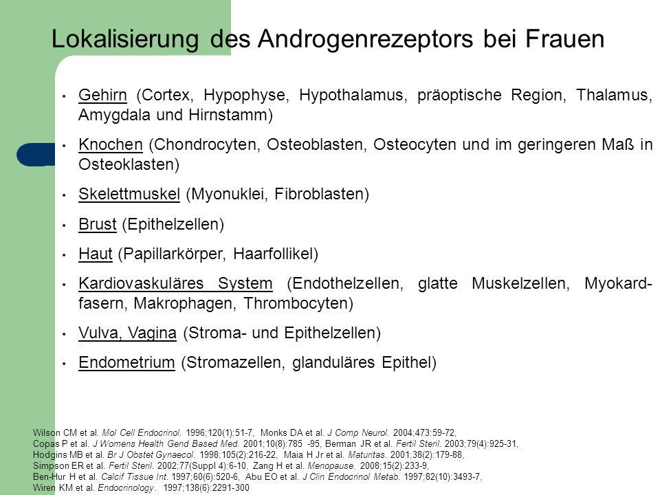 Lokalisierung des Androgenrezeptors bei Frauen