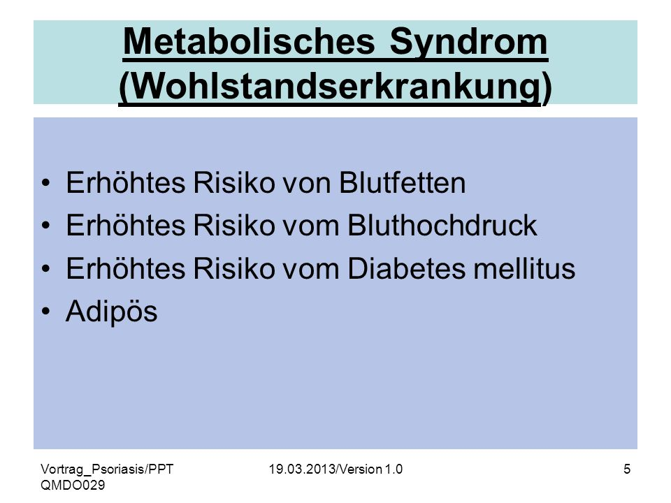 Metabolisches Syndrom (Wohlstandserkrankung)