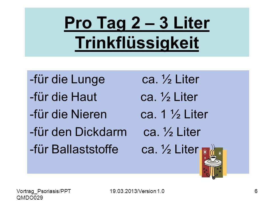 Pro Tag 2 – 3 Liter Trinkflüssigkeit