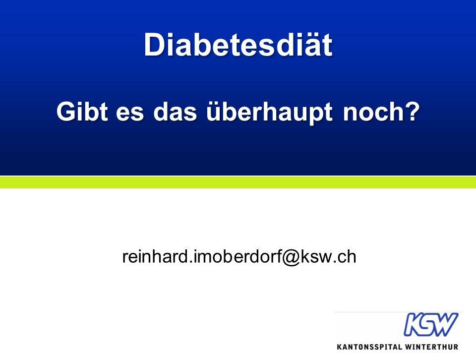 Diabetesdiät Gibt es das überhaupt noch