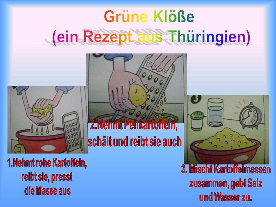 Grüne Klöße (ein Rezept aus Thüringien)