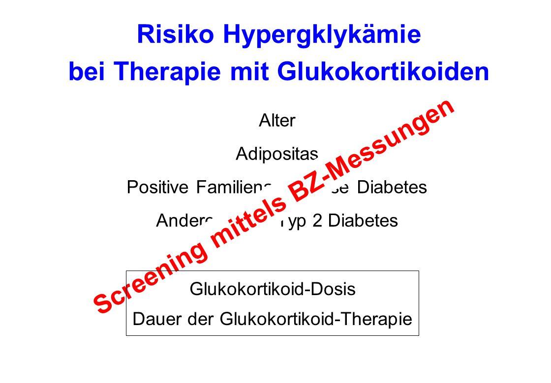 Risiko Hypergklykämie bei Therapie mit Glukokortikoiden