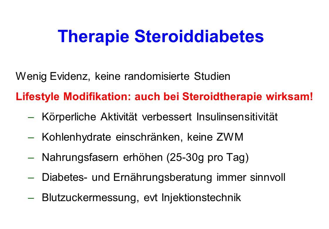 Therapie Steroiddiabetes