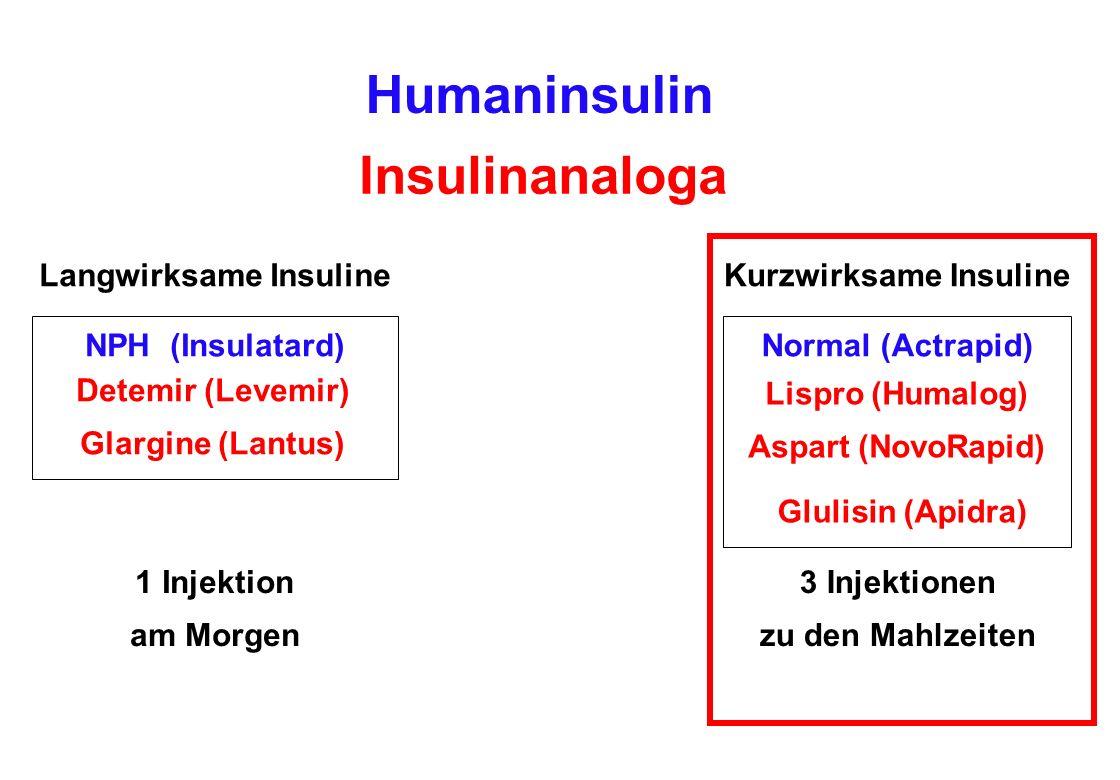 Langwirksame Insuline Kurzwirksame Insuline