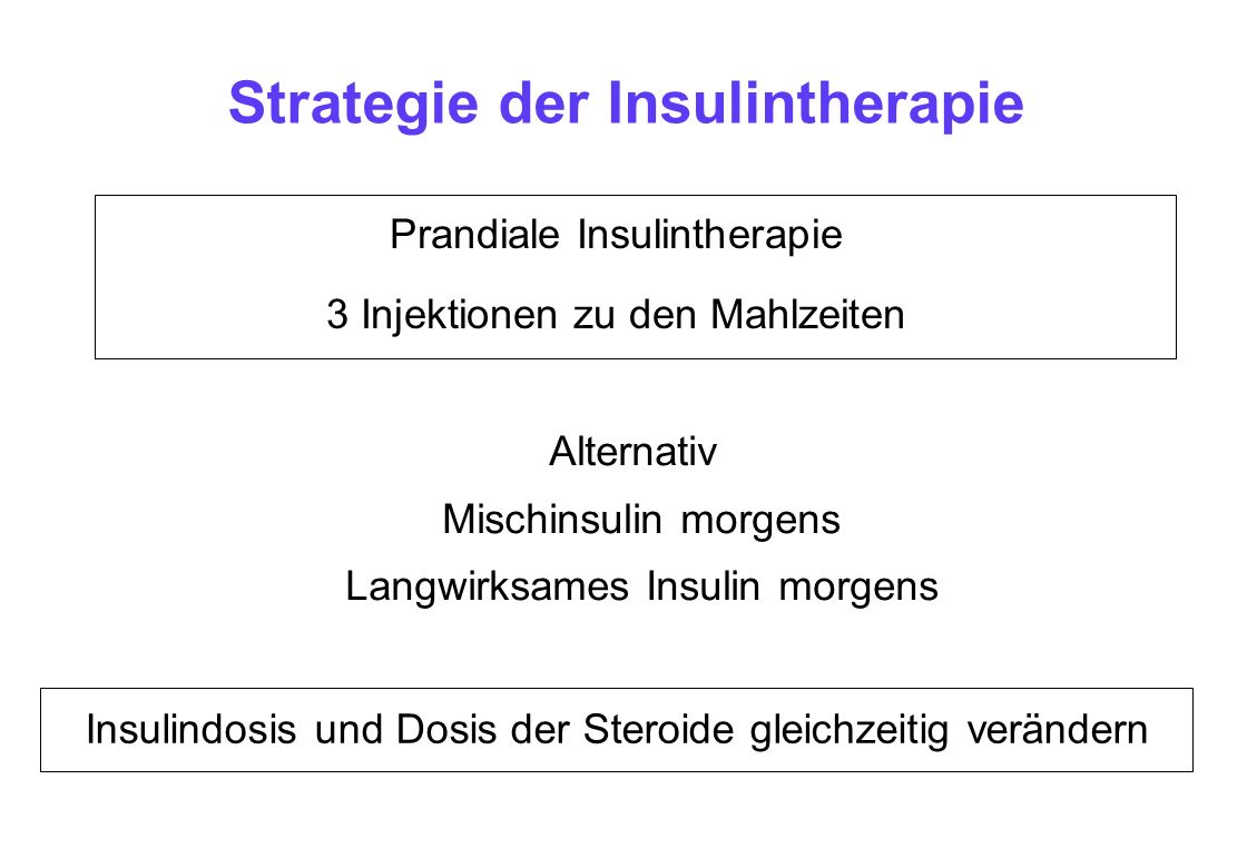 Strategie der Insulintherapie