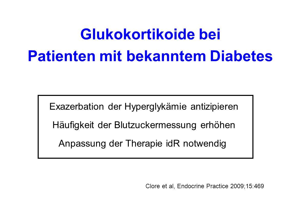 Patienten mit bekanntem Diabetes