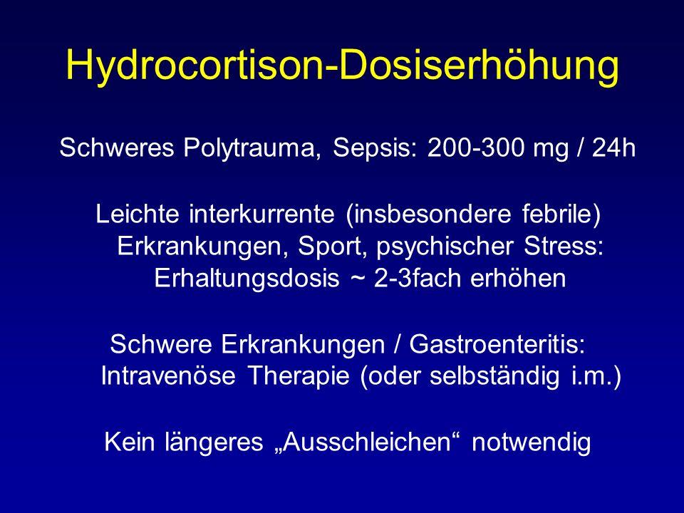 Hydrocortison-Dosiserhöhung