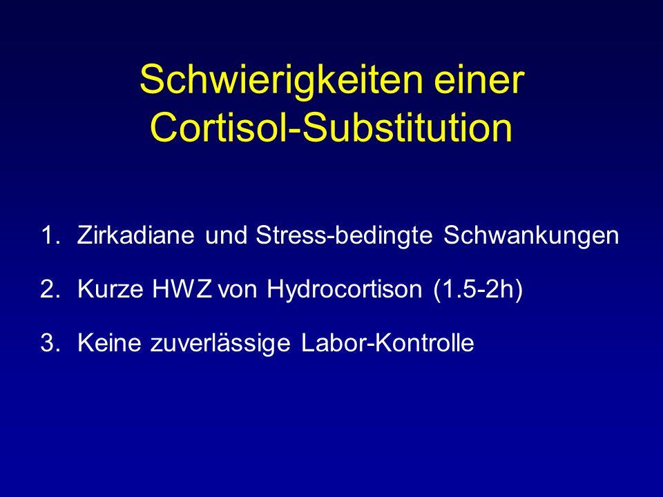 Schwierigkeiten einer Cortisol-Substitution