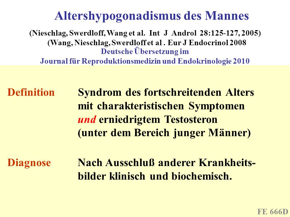 Altershypogonadismus des Mannes