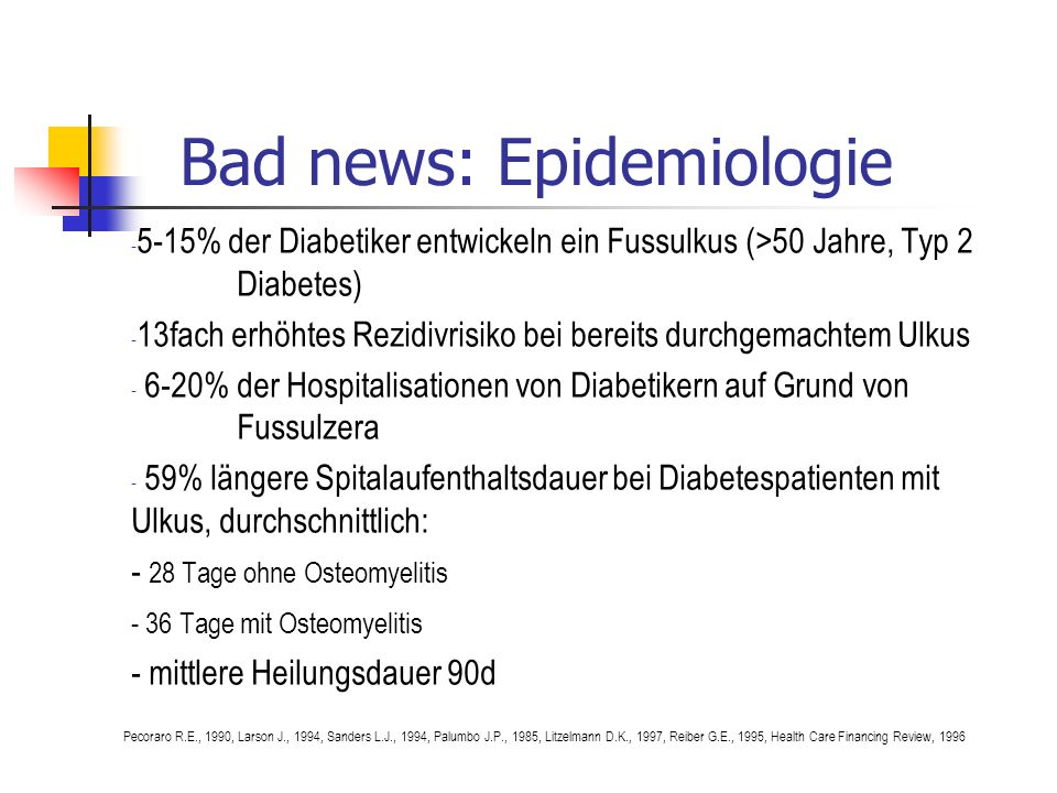 Bad news: Epidemiologie