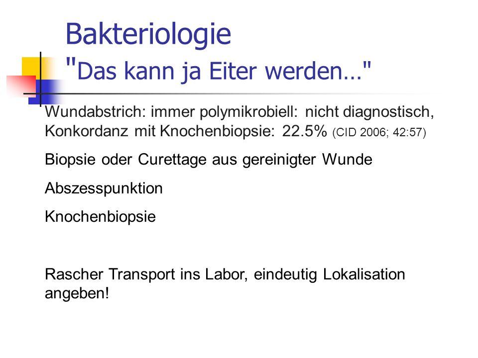 Bakteriologie Das kann ja Eiter werden…